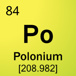 Bohr model of polonium